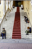 Festa di Internazionale à Ferrare : Municipale de Piazza, estense de sala Photo stock