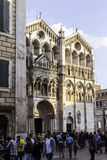 Festa di Internazionale in  Ferrara: Facade of the Cathedral of Ferrara Stock Photo