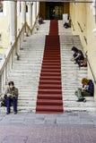 Festa di Internazionale in  Ferrara:Piazza municipale, sala estense Stock Photo