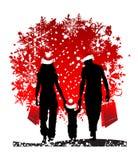 Festa di natale, famiglia Fotografia Stock Libera da Diritti
