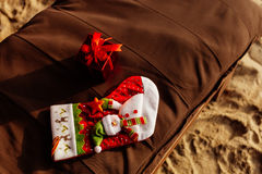 Festa di natale sulla spiaggia Fotografia Stock