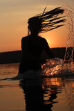Festa di tramonto nel lago Fotografie Stock Libere da Diritti
