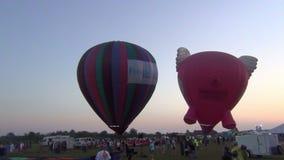 Festa do balão no amanhecer video estoque