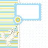 Festa do bebê com gato Fotos de Stock
