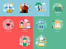Festa e ricreazioni illustrazione di stock