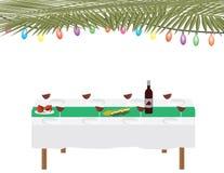 Festa ebrea tavola tradizionale di cena e di Sukkah su fondo bianco illustrazione di stock