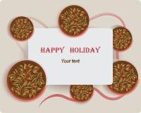 Festa felice Cartolina d'auguri Progettazione del manifesto, carte per i saluti illustrazione di stock