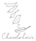 Festa felice - Chandeleur e pancake Fotografie Stock Libere da Diritti