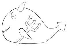 Festa felice - diavolo del pesce di aprile Fotografie Stock Libere da Diritti