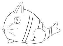 Festa felice - gatto del pesce di aprile Fotografia Stock