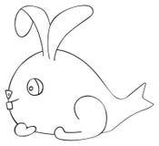 Festa felice - lepre del pesce di aprile Fotografia Stock