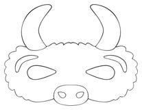 Festa felice - maschera del bufalo della prateria Fotografie Stock