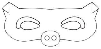 Festa felice - maschera del maiale del giardino Fotografia Stock Libera da Diritti