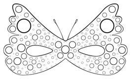 Festa felice - maschera della farfalla punteggiata Fotografia Stock Libera da Diritti