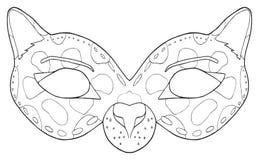 Festa felice - maschera della pantera nera Fotografia Stock Libera da Diritti