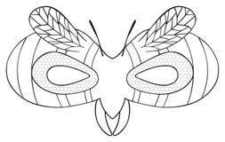 Festa felice - maschera della vespa a strisce Fotografia Stock Libera da Diritti