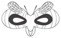 Festa felice - maschera della vespa a strisce con gli occhi neri Fotografia Stock