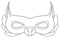 Festa felice - maschera dello scoiattolo della foresta Immagini Stock