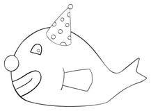 Festa felice - pagliaccio del pesce di aprile Fotografia Stock Libera da Diritti