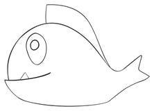 Festa felice - pesce di aprile con il dente Immagini Stock