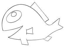 Festa felice - pesce di aprile con il pettine Fotografia Stock
