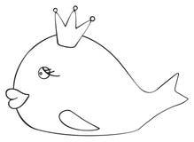 Festa felice - principessa del pesce di aprile Fotografie Stock Libere da Diritti