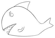 Festa felice - squalo del pesce di aprile Fotografie Stock Libere da Diritti