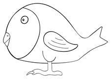Festa felice - uccello del pesce di aprile Immagine Stock