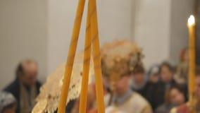 A festa gloriosa da Páscoa Christ é levantado O serviço episcopal é a leitura do missal filme