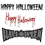 Festa Halloween, iscrizione, siluetta su fondo bianco fotografia stock