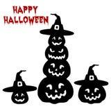 Festa Halloween, raccolta della siluetta della zucca, fumetto su w illustrazione di stock