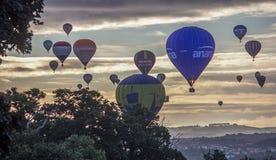 Festa internacional do balão de ar quente em Bristol imagem de stock