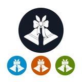 Festa Jingle Bells delle icone Fotografia Stock