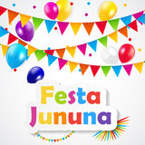 Festa Jinina Background Vector Illustration. EPS10 Royalty Free Stock Photos