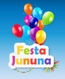 Festa Jinina Background Vector Illustration. EPS10 Stock Photography