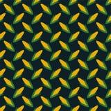 Festa Junina Corn Seamless Pattern. Festa Junina annual Brazil June celebration corn seamless pattern in vintage retro colors on dark teal background Stock Images
