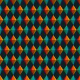 Festa Junina Geometric Triangles and Diamonds Seamless Pattern. Festa Junina annual Brazil June celebration geometric triangles and diamonds representing Royalty Free Stock Photography