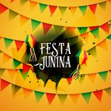 Festa junina background with colorful garlands. Vector Royalty Free Stock Images