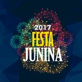 Festa junina background with fireworks. Vector Royalty Free Stock Images