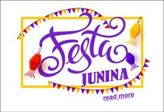 Festa junina background holiday. Place for text Stock Photography