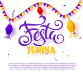 Festa junina background holiday. Place for text Stock Photo