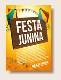Festa junina background holiday. Place for text Royalty Free Stock Photo