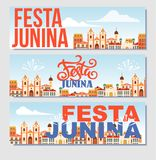 Festa junina background holiday. Place for text Royalty Free Stock Image
