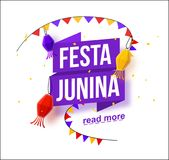 Festa junina background holiday. Place for text Royalty Free Stock Photography