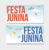 Festa junina background holiday. Place for text Stock Image