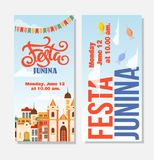 Festa junina background holiday. Place for text Royalty Free Stock Images
