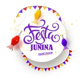 Festa junina background holiday. Place for text Stock Photos