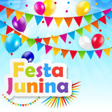 Festa Junina Background. Vector Illustration Stock Photography