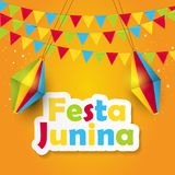 Festa Junina Background Vector Illustration. EPS10 Stock Image