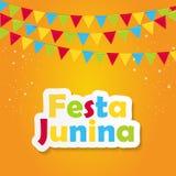 Festa Junina Background Vector Illustration. EPS10 Stock Photo